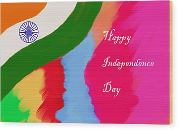Indian Independence Day Wood Print