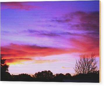 Indian Morning Sky Wood Print