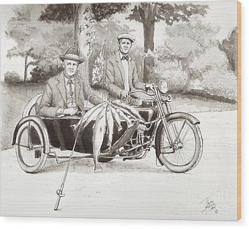 Indian Motorcylce Founders Wood Print