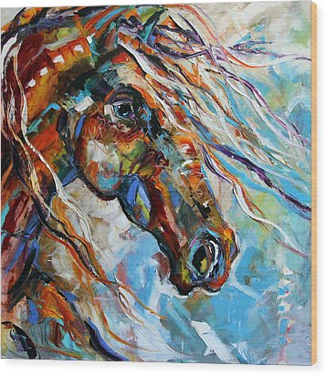 Indian Paint Pony Wood Print