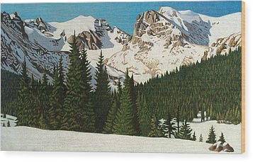 Indian Peaks Winter Wood Print by Dan Miller