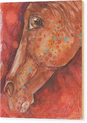 Indian Pony Wood Print by Mary Armstrong