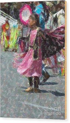 Indian Princess Dancer Wood Print by Kathleen Struckle