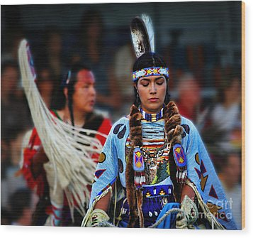 Indian Princess Wood Print by Scarlett Images Photography