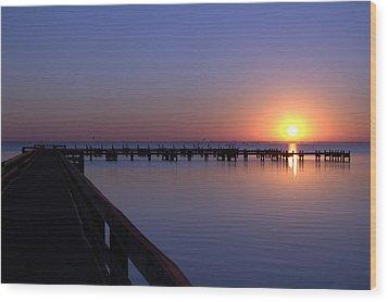 Indian River Sunrise Wood Print by Brian Harig