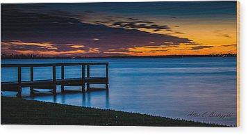 Indian Shores Dusk Wood Print