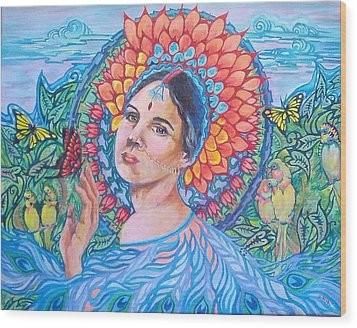 Wood Print featuring the painting Indian Spring by Suzanne Silvir