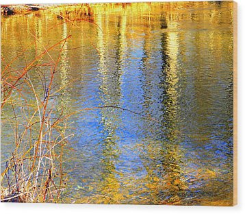 Indian Summer Wood Print by Mary Beth Landis
