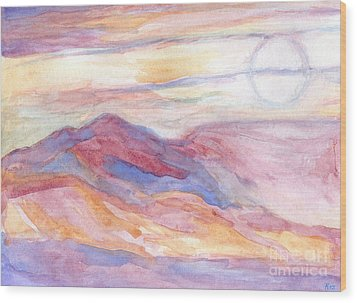 Indian Summer Sky Wood Print by Roz Abellera Art