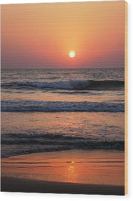 Indian Sunset Wood Print by Ilse Maria Gibson
