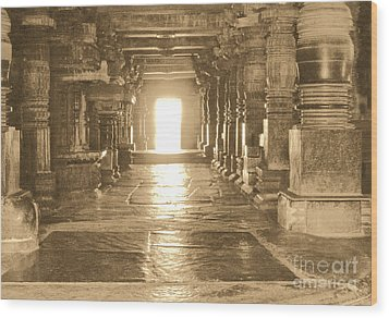 Wood Print featuring the photograph Indian Temple by Mini Arora