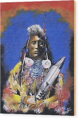 Indian Warrior 1 Wood Print