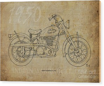 Indian Warrior Tt 1950 Wood Print by Pablo Franchi