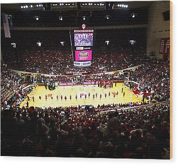 Indiana Hoosiers Assembly Hall Wood Print by Replay Photos