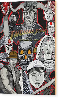 Indiana Jones Temple Of Doom Wood Print by Gary Niles