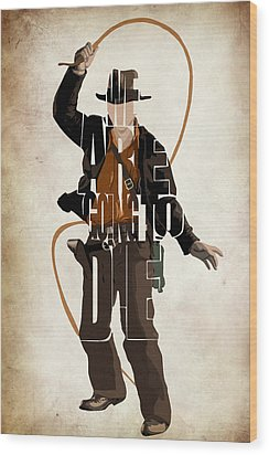 Indiana Jones Vol 2 - Harrison Ford Wood Print by Ayse and Deniz