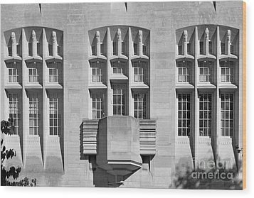 Indiana University Myers Hall Wood Print by University Icons