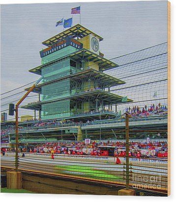Indianapolis 500 May 2013 Square Wood Print by David Haskett