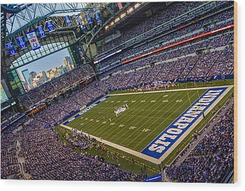 Indianapolis And The Colts Wood Print