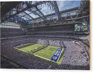 Indianapolis Colts 3 Wood Print by David Haskett