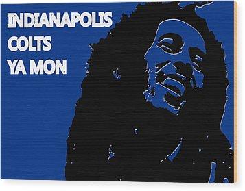 Indianapolis Colts Ya Mon Wood Print by Joe Hamilton