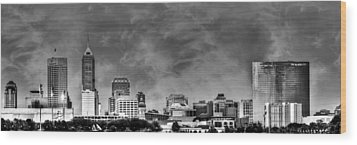 Indianapolis Indiana Skyline 0762 Wood Print by David Haskett