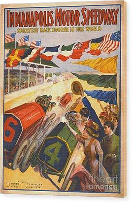 Indianapolis Motor Speedway 1909 Wood Print
