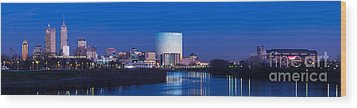 Indianapolis Skyline Wood Print by Twenty Two North Photography