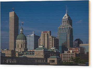 Indianapolis Skyscrapers Wood Print