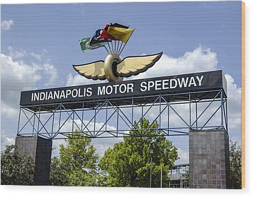 Indianapolis Speedway Wood Print by Chris Smith