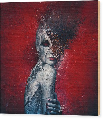 Indifference Wood Print by Mario Sanchez Nevado