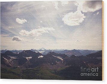 Wood Print featuring the photograph Indigo Vista by Devin  Cogger