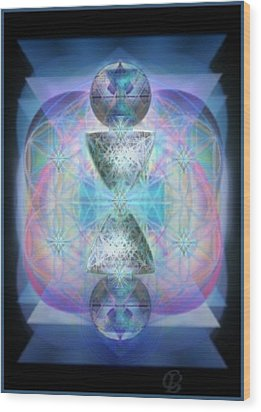 Indigoaurad Chalice Orbing Intwined Hearts Wood Print by Christopher Pringer