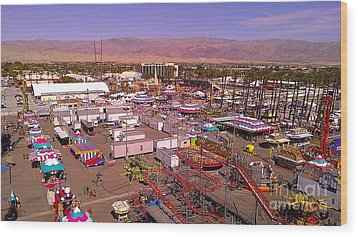 Indio Fair Grounds Wood Print by Chris Tarpening