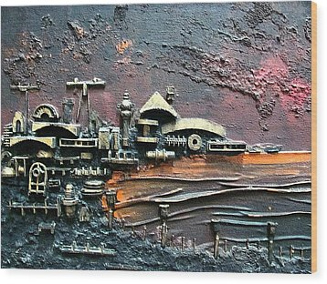 Industrial Port-part 1 By Rafi Talby Wood Print by Rafi Talby