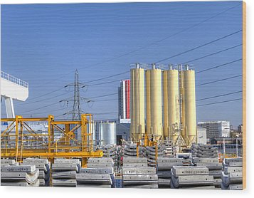 Industrial Scene With Concrete Wood Print by Fizzy Image