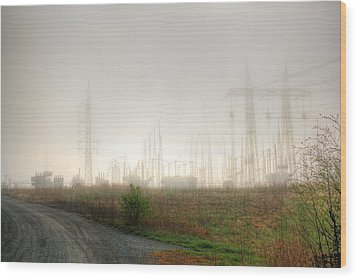 Industrial Skeleton Wood Print by Dan Stone
