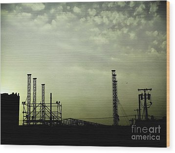 Industrial Sky Wood Print by Colleen Kammerer