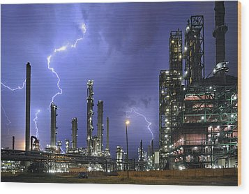 Lightning Wood Print by Arterra Picture Library