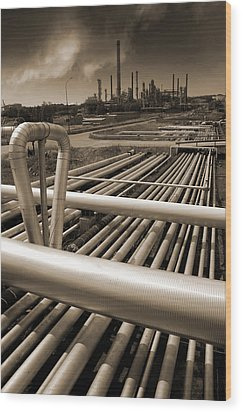 Industry Oil Gas And Fuel Wood Print