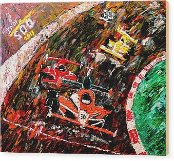 Indy 500  Wood Print by Mark Moore