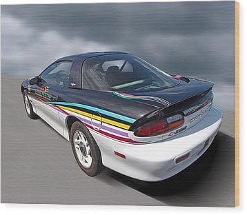 Indy 500 Pace Car 1993 - Camaro Z28 Wood Print by Gill Billington