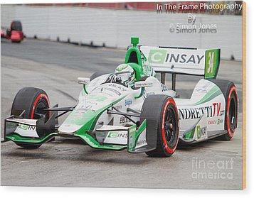 Indy Car  Wood Print by Simon Jones