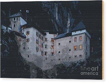 Infamous Jim-jam Predjama Castle Wood Print