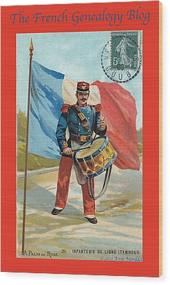 Infantry Of The Line Drummer With Fgb Border Wood Print by A Morddel