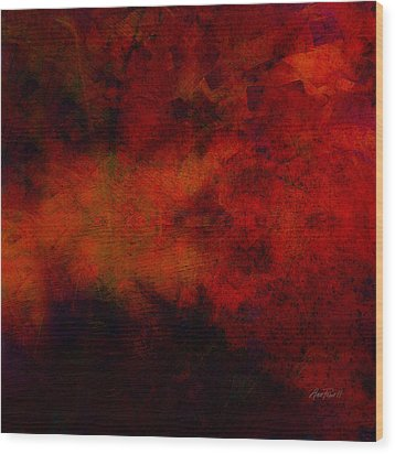 Inferno - Abstract - Art  Wood Print by Ann Powell