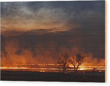 Inferno II Wood Print by Scott Bean