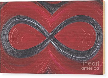 Infinite Love By Jrr Wood Print by First Star Art