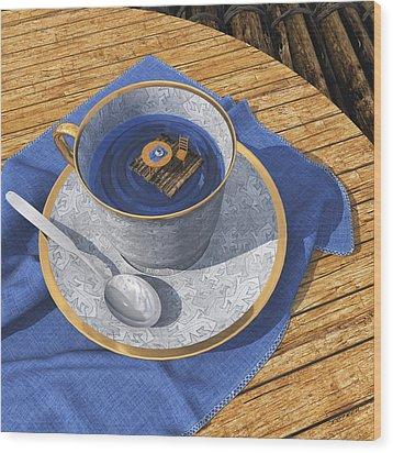 Infinitea Wood Print by Cynthia Decker