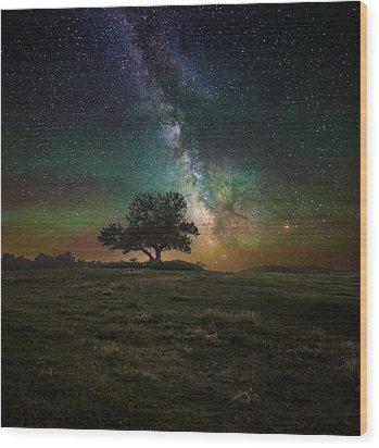 Infinity Wood Print by Aaron J Groen